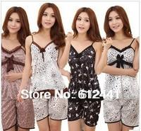 Free Shipping Fashion New Style Sexy Women Nightgown Pajamas  Lady Sleepingwear Nightwear Clothing and pants set