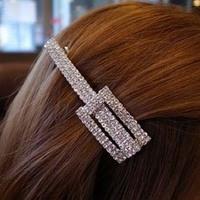 T21 hair accessory full rhinestone sparkling  square long hairpin hair hair clip free shipping (Min order $10 mixed order)
