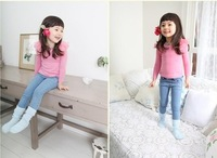 Free Shipping  2013 New Arrive Girls Jeans Cute Pant Baby Girl Jeans Girls Skinny Jeans 5pcs/lot free shipping