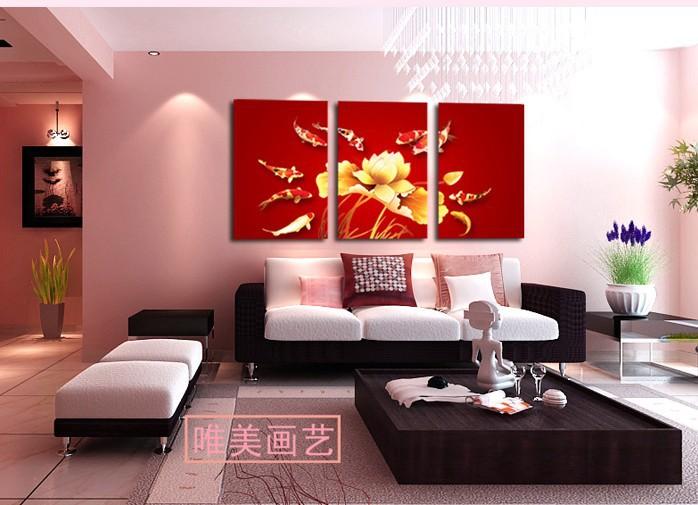 Compra cuadros enormes peces online al por mayor de china - Cuadros minimalistas para comedor ...