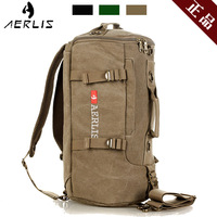 Aerlis Canvas Travel Man Bag Casual Drum Double-shoulder Portable Men's Shoulder Bags Sports Tube Package Free Shipping