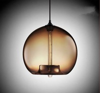 Hot selling Niche modern glass pendant light,Vintage flute bulb dining room pendant lamp(Dia 29cm*H30cm)