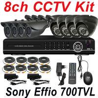 On sale best cheap 8ch cctv security kits surveillance video alarm system ir night vision monitor hd camera 8ch HD DVR recorder