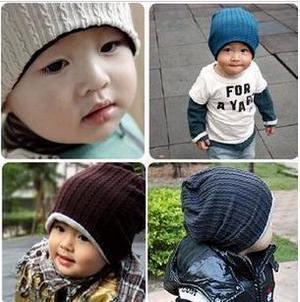 2pieces/lot Fashion Mom cool baby   thread baby cap Kids hats Cotton Beanie Infant cap children baby hat