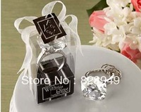 """Factory directly sale 30PCS/LOT Wedding Favor--""""With this Ring"""" Crystal """"Diamond"""" Ring Key Chain widely used as wedding gift"""