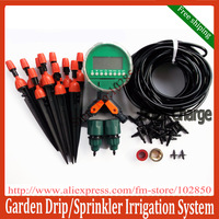 adjustable sprinkler+dripper DIY Garden Irrigation System with,Auto Garden watering system for flowers&vegetables free shipping