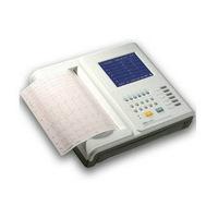 """ECG1200F 12-Channel 12-Lead 7""""LCD B/W Display Portable Digital Cardiology ECG/EKG"""