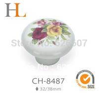 10pcs 32mm atique style ceramic furniture handle