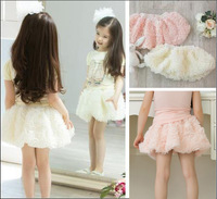 New 2013 summer baby girls children's skirts Beautiful Rose tutu skirt for girls petti skirt 2 Color Free Shipping