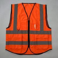 Hi Vis Reflective Safety Vest-Size XS S M L XL XXL 3XL 4XL-Lime Orange
