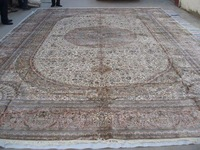 Absolutely Incredible Pink 14x20Gorgeous Handmade Persian Silk Carpet And 5 Colours&Design Large Carpet On Sale!