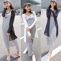 2013 female summer all-match sweet gauze long design cardigan sun protection clothing long-sleeve coat solid color