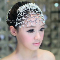 Water bride hair accessory luxury rhinestone tassel married hair accessory style accessories