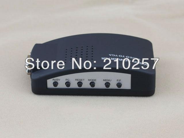 Free shipping 1pcs AV/S Video To VGA TV CCTV BNC/RCA S-Video AV to VGA Converter Adapter Converter(China (Mainland))