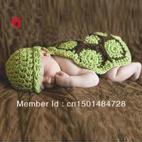 Hot Sale 2014 Photo Prop Knit Crochet Fashion Baby Kids Costume  Tortoise Hat Cap Free Shipping
