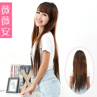 Wig high temperature wire long straight hair extension tablets roll 4 thickening 35g
