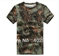 European and American men's outdoor summer loose round neck short sleeve men's camouflage  T-shirt