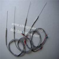 1mm X100mm  thermocouple with 1M cable, K type 0-350C,high accuracy, fast response