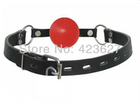 Adjustable Black / Red  mouth gag Ball Soft Balls sex toy adult toys