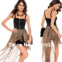 Free shipping Sophia Leopard Maxi Dress Women sexy clubwear Evening dress 2013 Wholesale 12pcs/lot 6133