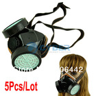 5Pcs/Lot Spray Respirator Gas Safety Anti-Dust Chemical Paint Spray Mask Dual Cartridge Mask TK0669(China (Mainland))