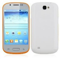 i8730 Smartphone Android 2.3 OS SC6820 1.0GHz 4.0 Inch 3.0MP Camera- Orange & White