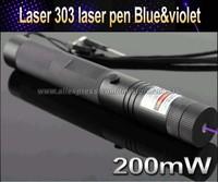 Top Laser 303 200mW blue & violet UV Laser Pointer Adjustable Focal Length and Star Pattern Filter