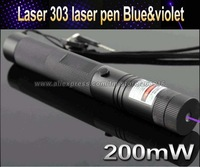 Top Laser 303 200mW blue & violet UV Laser Pointer Adjustable Focal Length and Star Pattern Filter