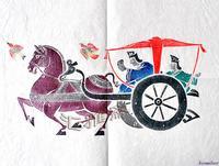 "Free shipping 1960 Han Dynasty stone rubbings rice paper ""make car"" International Book Number CS-6021"