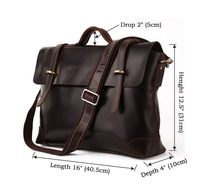 2013 Most Trendy Real Leather Briefcase Laptop Handbag Messenger Bag Men # 7082C