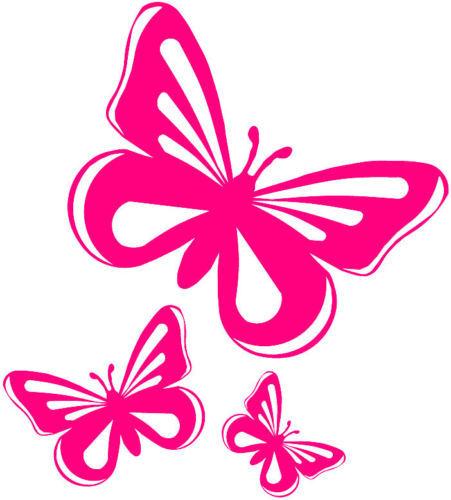 Pink Cartoon Butterflies 5pcs pink butterfly vinyl Animated Pink Butterflies