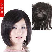 Pear hair real hair wig medium-long wifing toupee bobo fluffy hair curly hair 8001