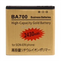 High Capacity 2430mAh BA700 High Capacity Gold Business Battery for Sony Ericsson Xperia NeoMT15i/Xperia pro MK16i New Arrival