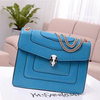 2013 New Wave Korean Version Snake Head Candy-colored Chain Leather Shoulder Bag Messenger Bag BG564