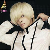 Boys wig short straight hair wig beige cos male wig
