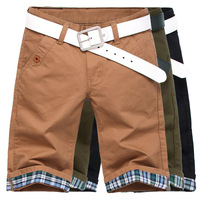 Summer 100% cotton pure color cloth trousers male men's clothing casual shorts capris knee-length pants male - 1 three-color 204