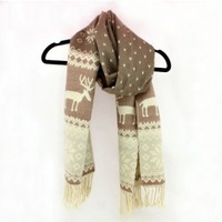 2013 New Fashion Style Winter Scarf for Women Snowflake Scarf  Wool Shawl Fringed Free Shipping
