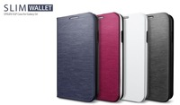 SPIGEN SGP SLIM Wallet Leather Case For Samsung Galaxy S4 SIV i9500 Freeshipping Dropship MOQ 1PCS With Retail Package