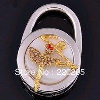freeshipping 100pcs/lot Fashion Luxuriant Golden Beauty Design Folding Bag Hanger/HandBag Hanger/Purse Hook wedding favor
