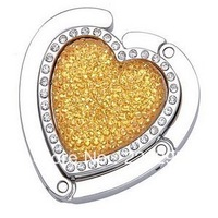 freeshipping 100pcs/lot Heart Design Folding Purse Hanger/HandBag Hanger/Bag Hanger wedding favor