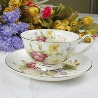 Fashion fashion bone china coffee cup and saucer mug set coffee cup casual cqua spoon
