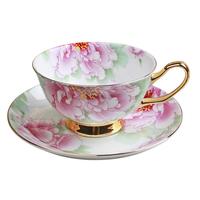 Bone china coffee cup and saucer set fashion coffee cup ceramic cup and saucer 1 cup 1 disgusts dish