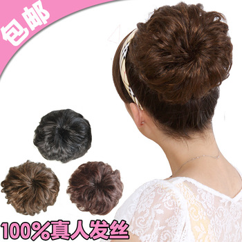 Bud head fluffy wig bag balls hair bride costume wig plate headband style