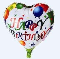 Free Shipping Birthday series 18 aluminum balloon happy birthday aluminum foil balloon