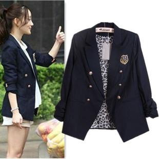 2013 primavera Autum estilo preppy terno blazer das mulheres Naval Academy outwear fahionable roupas casuais(China (Mainland))
