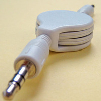 3.5mm Retractable Car MP3 AUX Audio Extended Cable Cord For iPhone 3GS iPod 9862# Freeshipping
