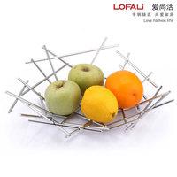 Kitchen utensils stainless steel fruit basket storage shelf