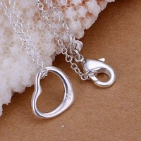 P078 fashion jewelry chains necklace 925 silver pendant Small love fall ahqo