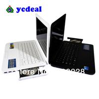 Nigeria and some africa free shipping Ultra thin 13 inch mini laptop Windows 7 Intel D2500 Netbook /Lemon