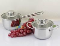 Infant 304 stainless steel milk pot induction soup pot 12cm